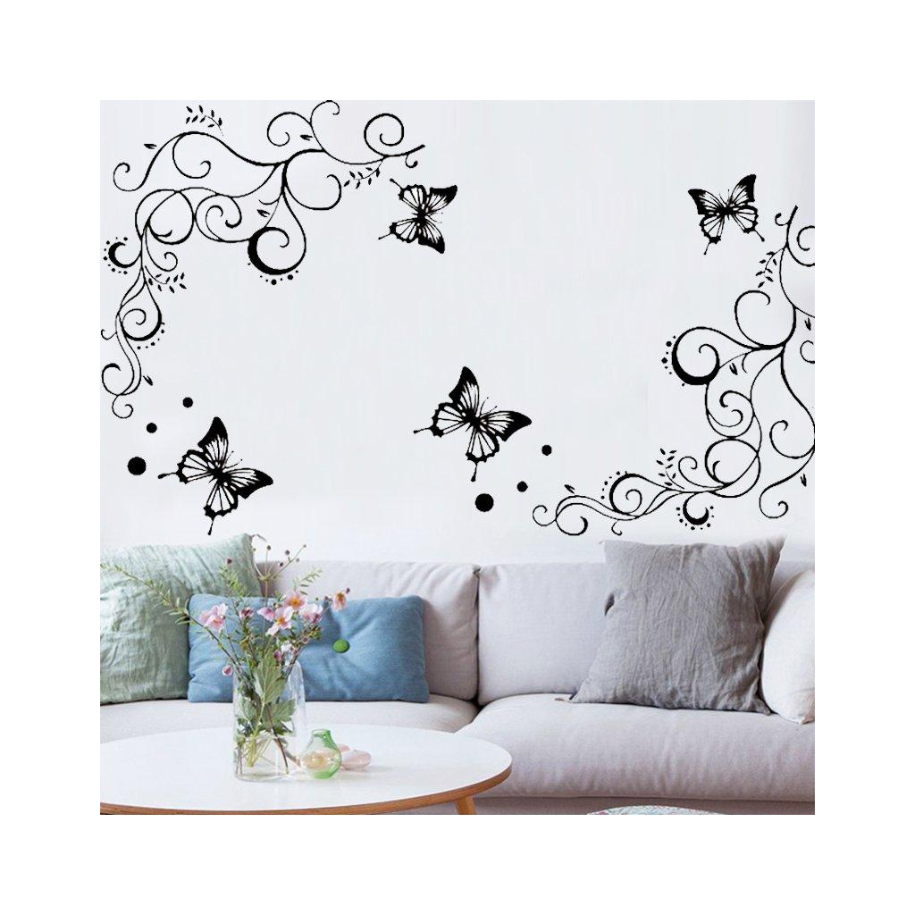 samolepiaca tapeta dekoracna samolepka na stenu nalepka motylovy ornament styl interierovy dizajn dekoracia vizualizacia stylovydomov