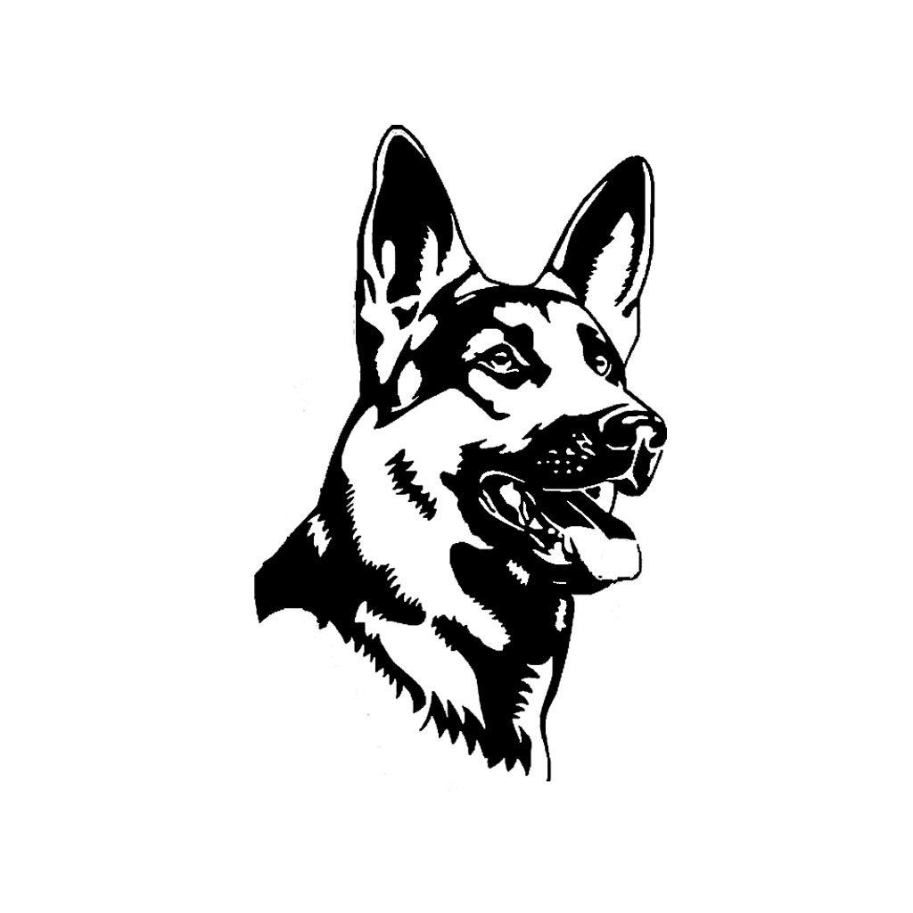 samolepka na auto notebook stenu vypinac dekoracna nalepka pes zviera nemecky ovciak cierna nahlad stylovydomov