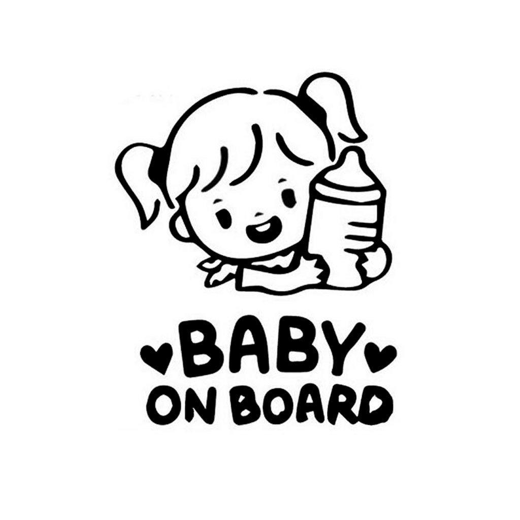 samolepka na auto detska nalepka dievcatko baby on board dieta v aute cierna nahlad stylovydomov
