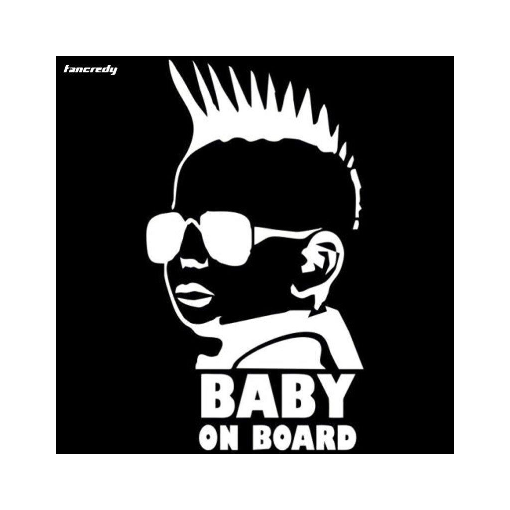 samolepka na auto detska nalepka chlapec rebel baby on board dieta v aute biela nahlad stylovydomov