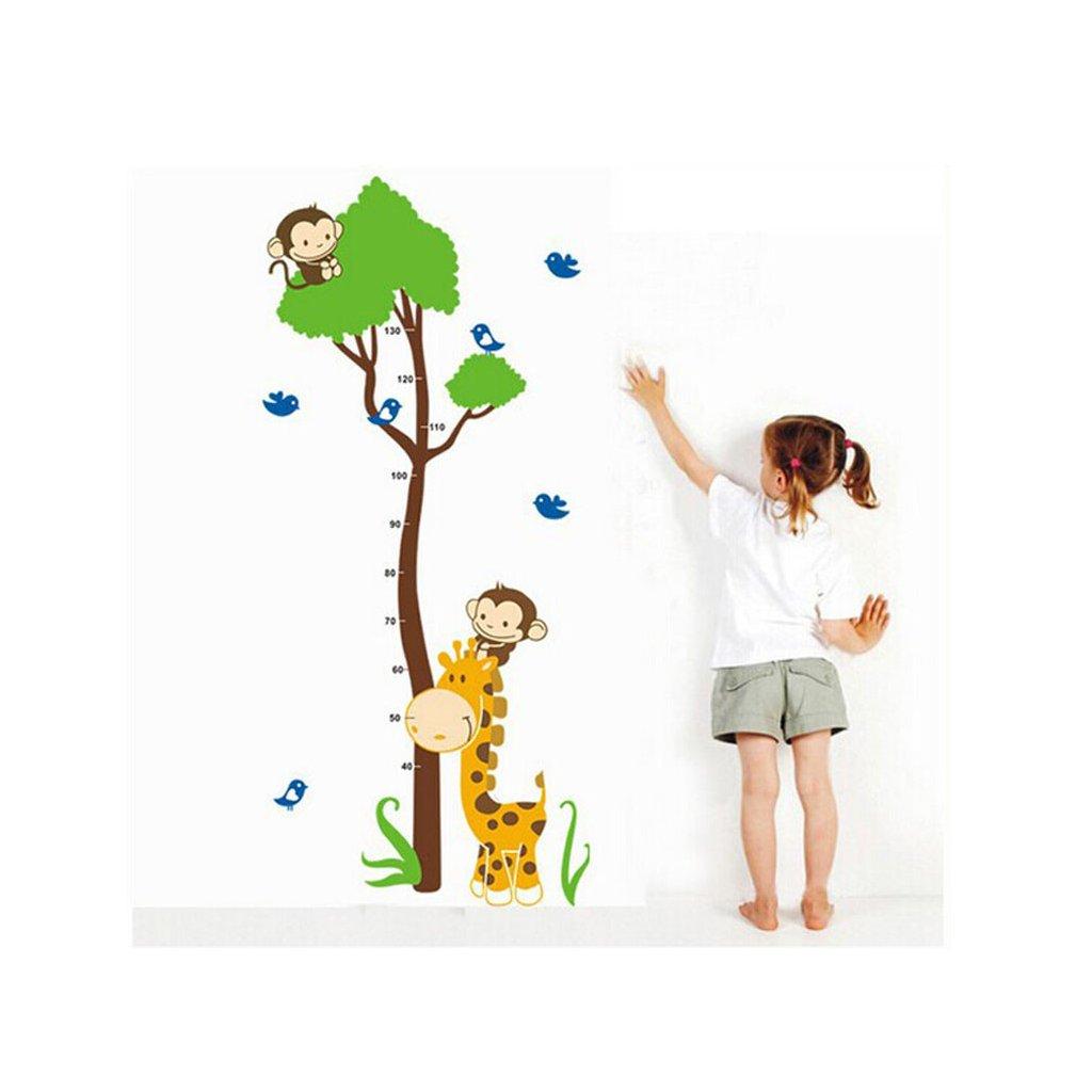"""Samolepka na stenu """"Detský meter - Žirafa so stromom"""" 75x150 cm"""