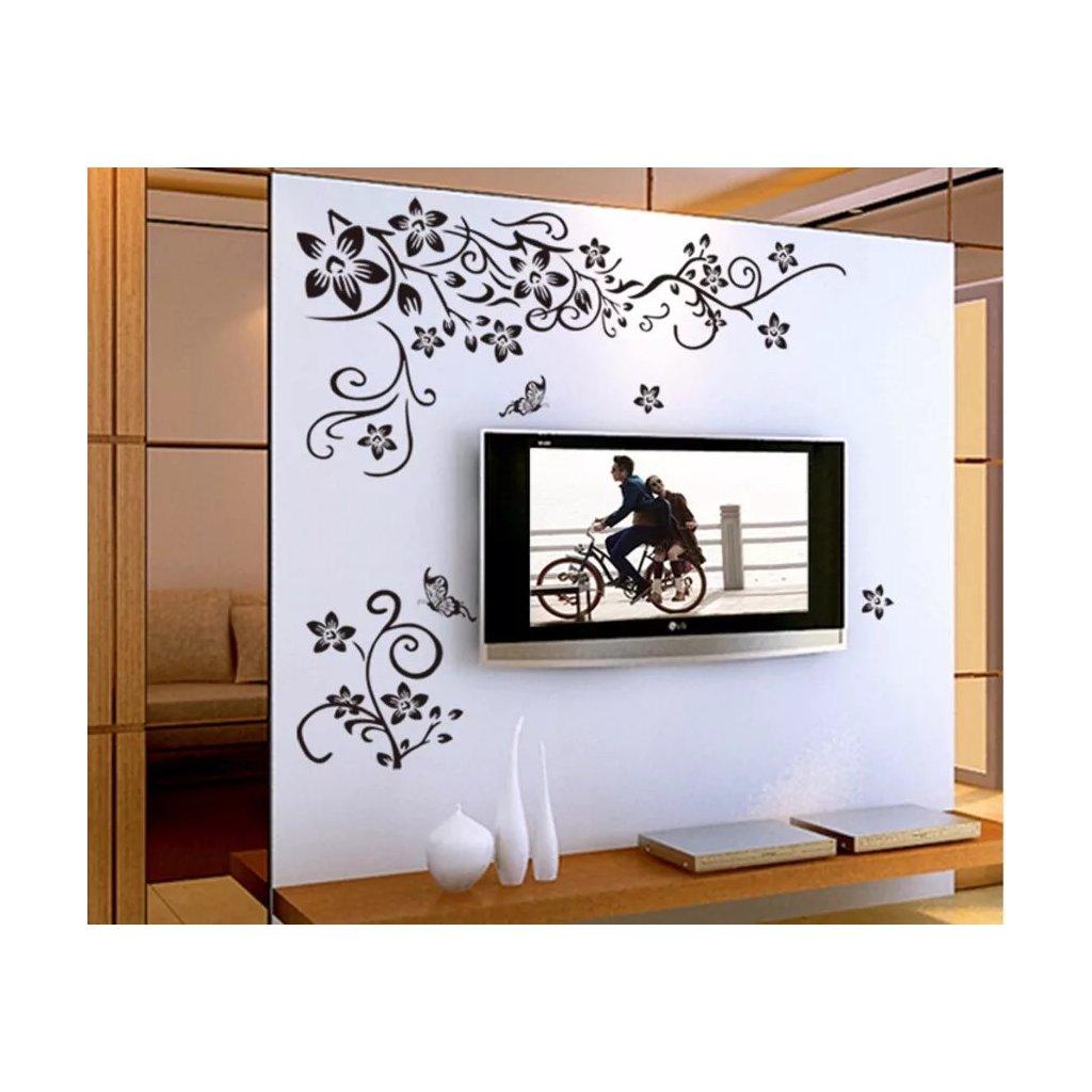 """Samolepka na stenu """"Kvetinový Ornament"""" 100x108 cm"""