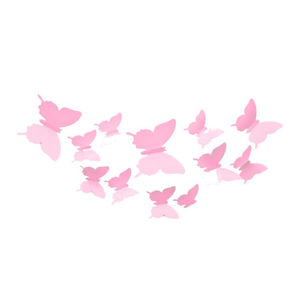 samolepiaca tapeta dekoracna samolepka na stenu nalepka motyle plastove ruzove interierovy dizajn stylovydomov