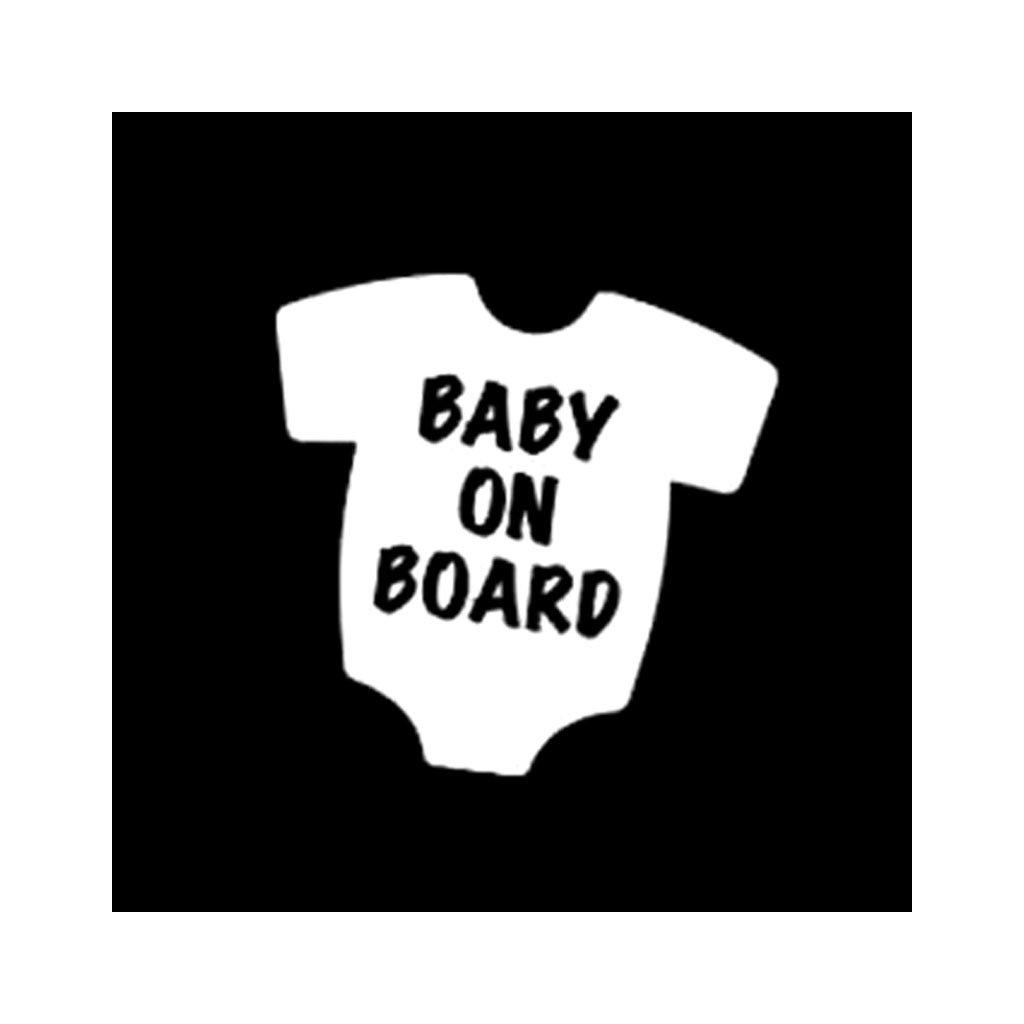 samolepka na auto detska nalepka baby on board dieta v aute biela nahlad stylovydomov