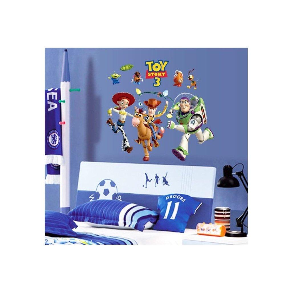 dekoracna samolepka na stenu nalepka interierova dekoracia toy story 3 vizualizacia