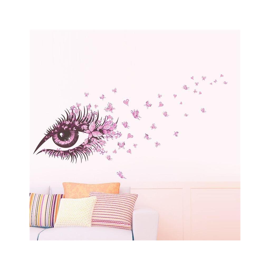 samolepiaca tapeta dekoracna samolepka na stenu vinylova nalepka zenske oko dizajn dekoracia nahlad stylovydomov