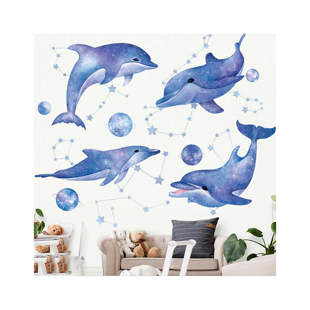 "Samolepka na stenu ""Delfíny"" 93x100cm"
