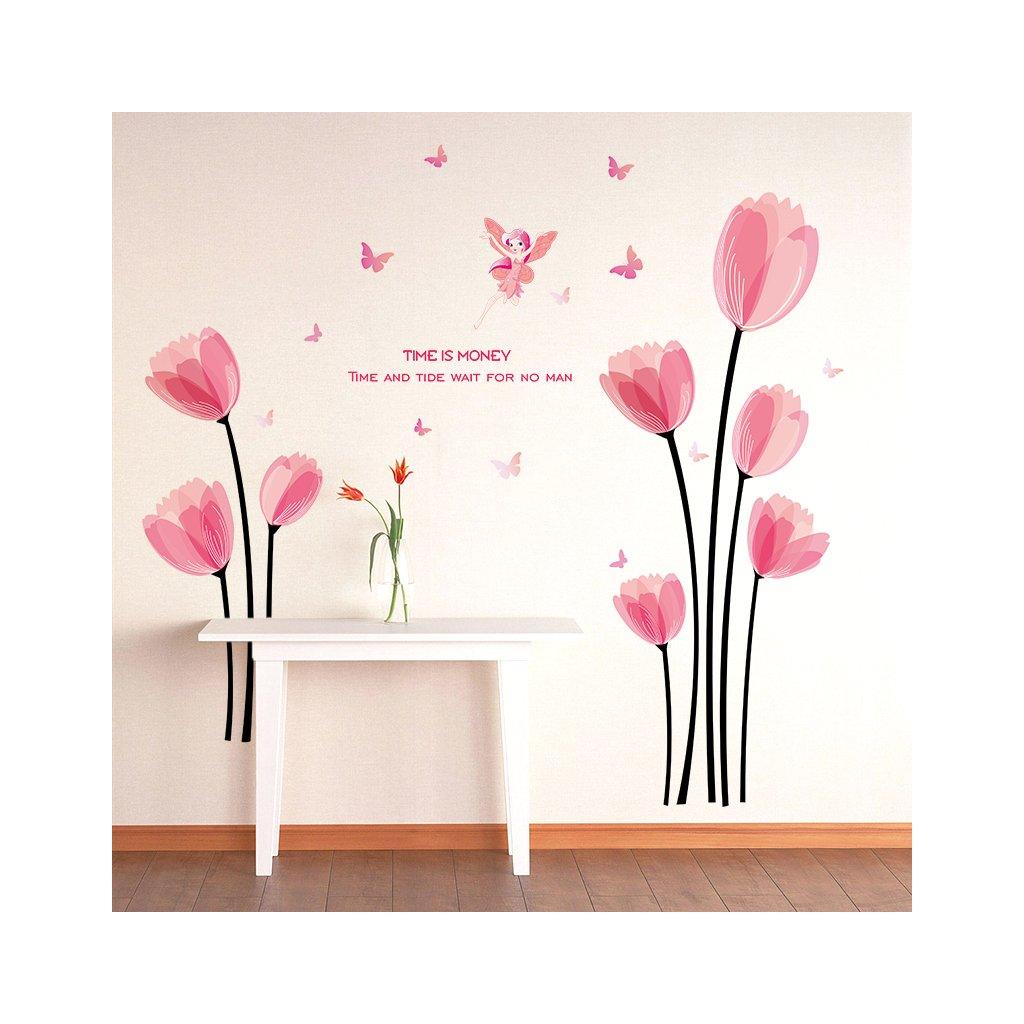 "Samolepka na stenu ""Tulipány"" 152x119cm"