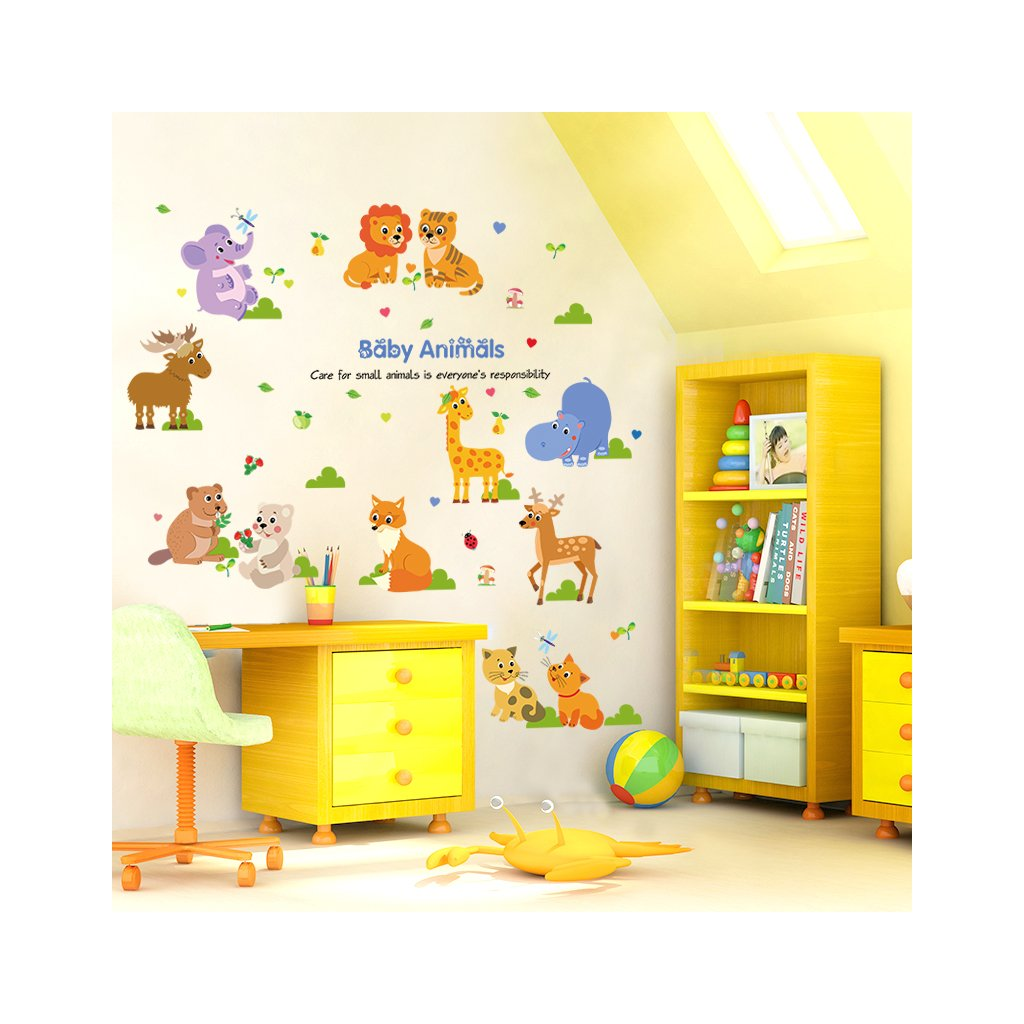 "Samolepka na stenu ""Zvieratká 2"" 140x75cm"