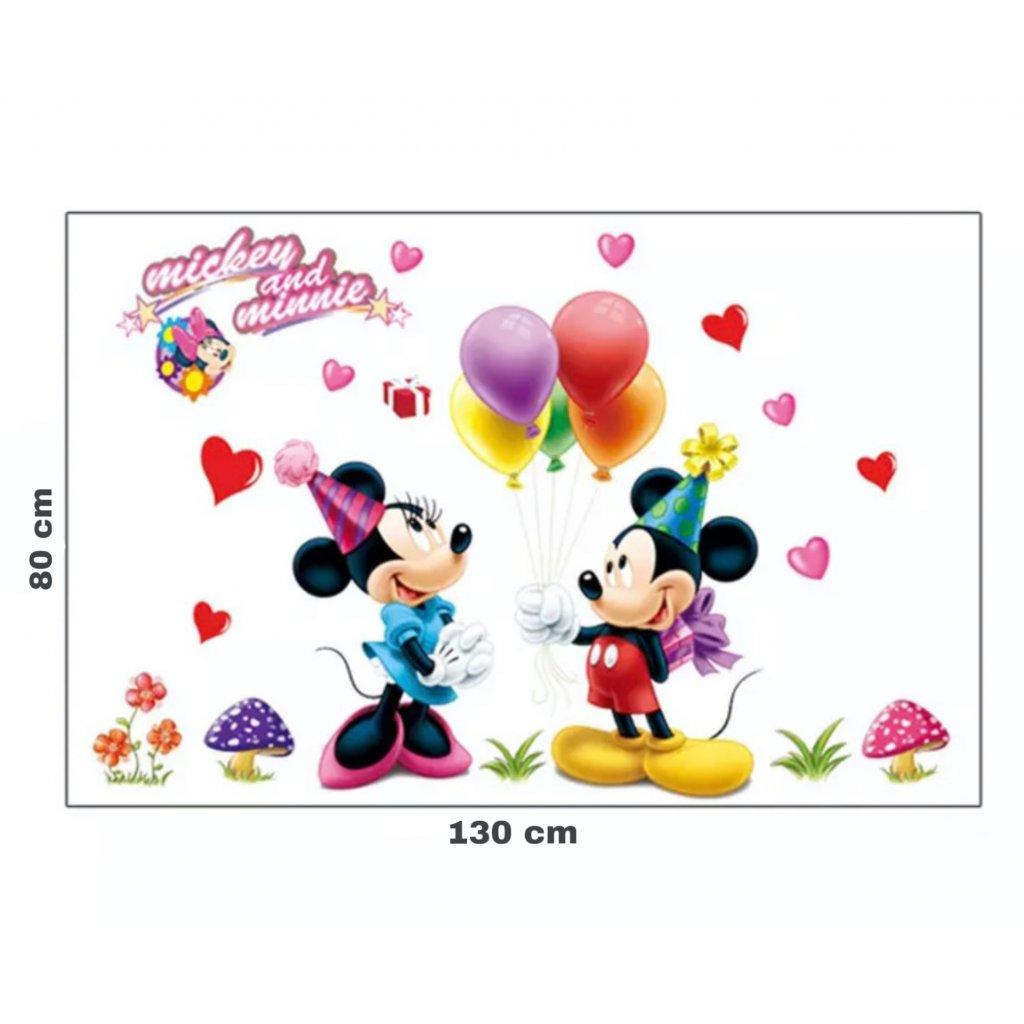 "Samolepka na stenu ""Mickey & Minnie"" 130x80 cm"