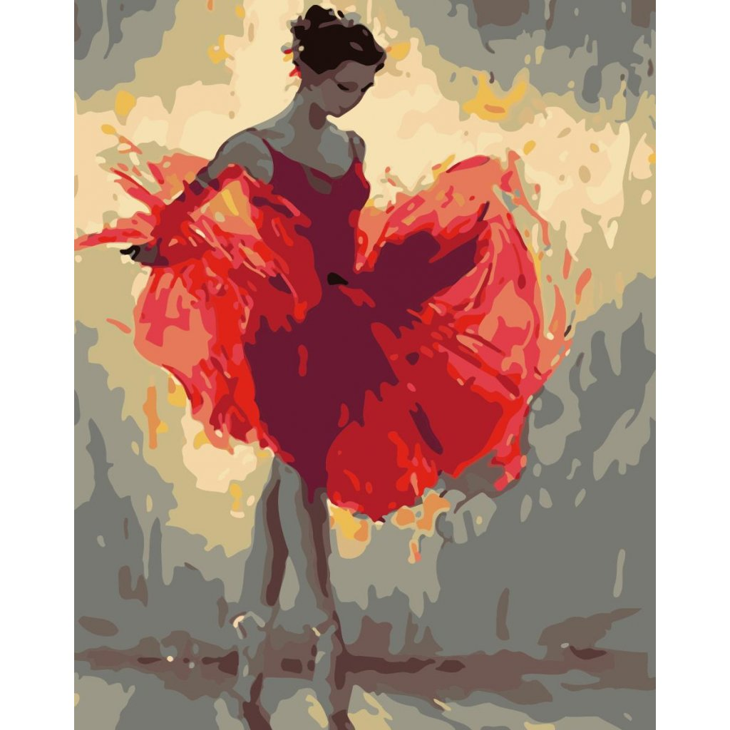 WM 3295 红裙芭蕾舞
