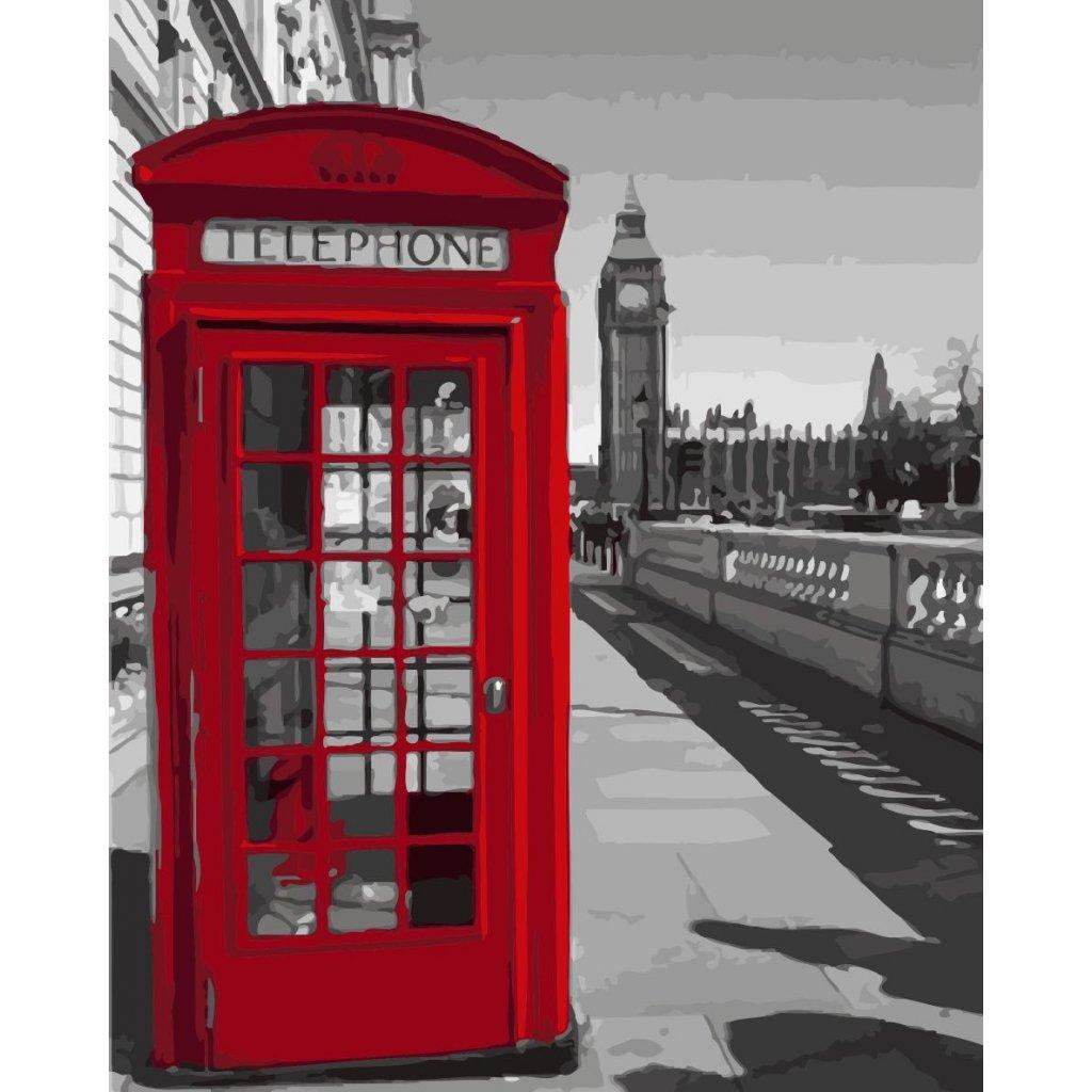 WM 3425 黑白红色电话亭