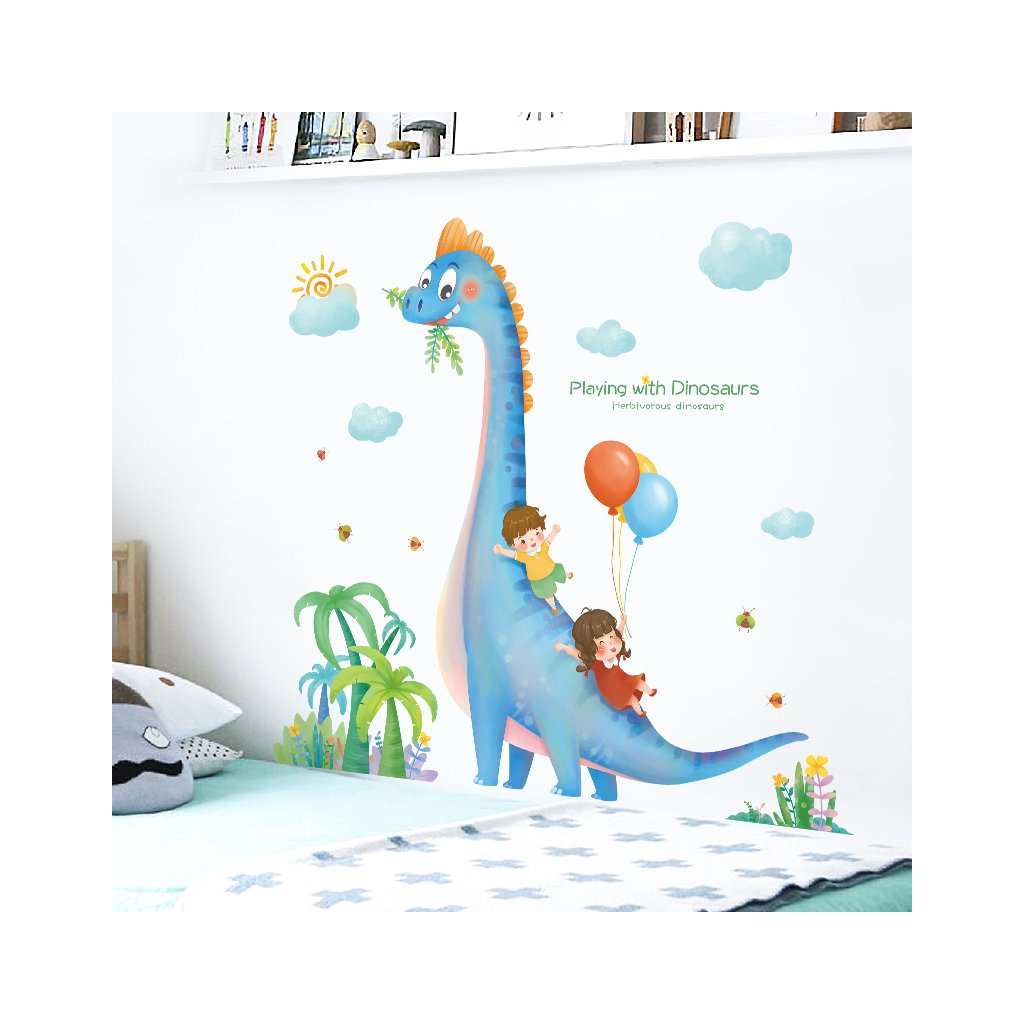 "Samolepka na stenu ""Dinosaurus 2"" 106x110 cm"