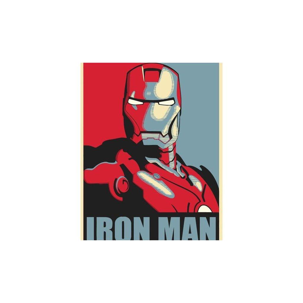 """Maľovanie podľa čísiel s rámom """"Iron Man 3"""" 50x40 cm"""