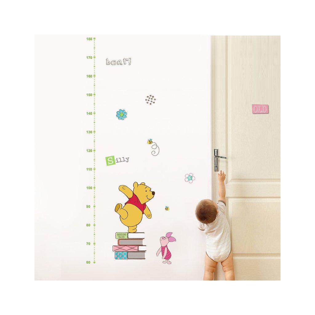 samolepka na stenu pre deti detska nalepka samolepiaca tapeta detsky meter macko pu nahlad stylovydomov