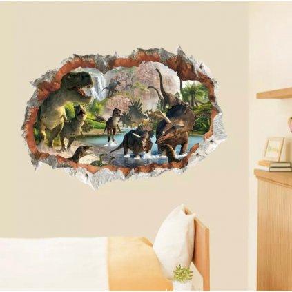 samolepka na stenu pre deti detska nalepka dekoracia dinosauri nahlad stylovydomov