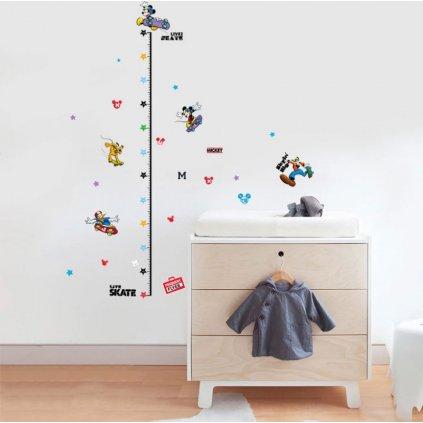 samolepka na stenu pre deti detska nalepka dekoracia detsky meter mickey vizualizacia stylovydomov