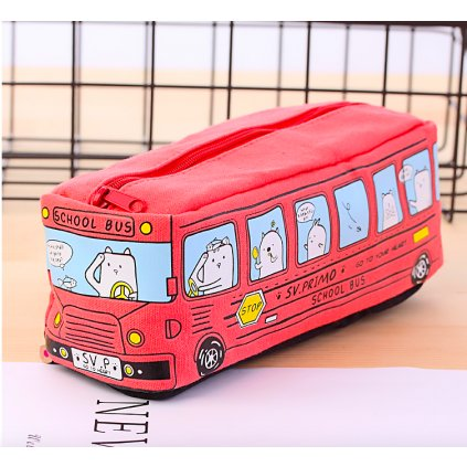 Červený autobus detail