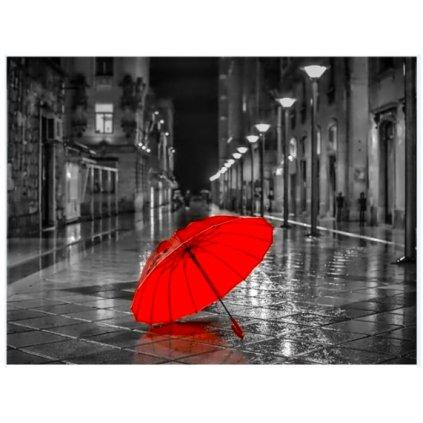 Červený dáždnik
