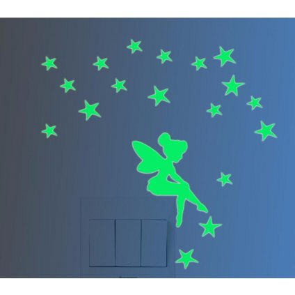 fosforova samolepka na stenu vypinac dekoracia pre deti detska nalepka stylovydomov vila