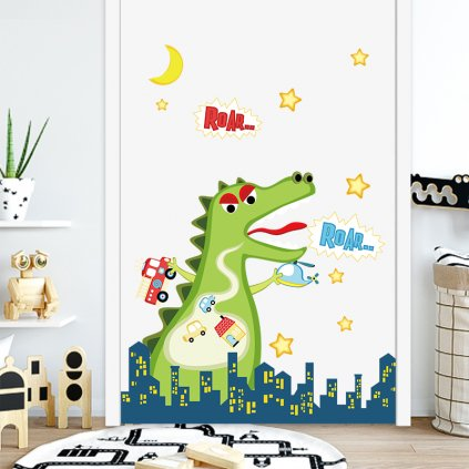 "Samolepka na stenu ""Godzilla"" 73x80cm"