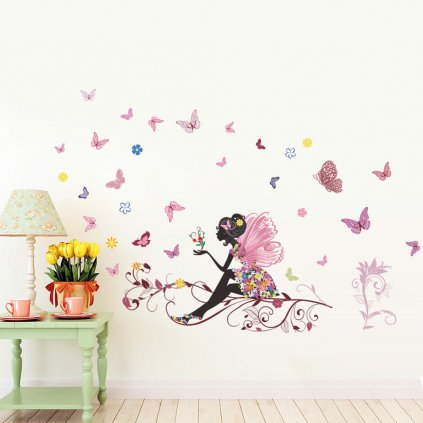 samolepka na stenu pre deti detska nalepka dievca vila dekoracia stylovydomov