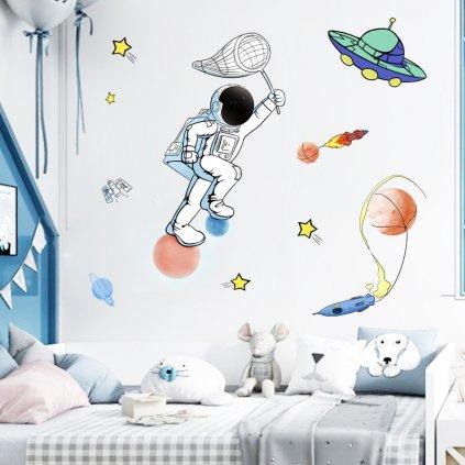 "Samolepka na stenu ""Astronaut"" 105x73 cm"