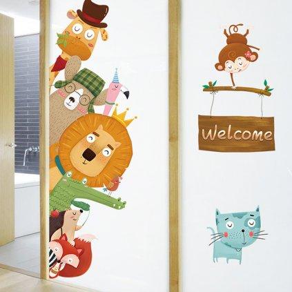"Samolepka na stenu ""Zvieratká - Welcome"" 140x80 cm"