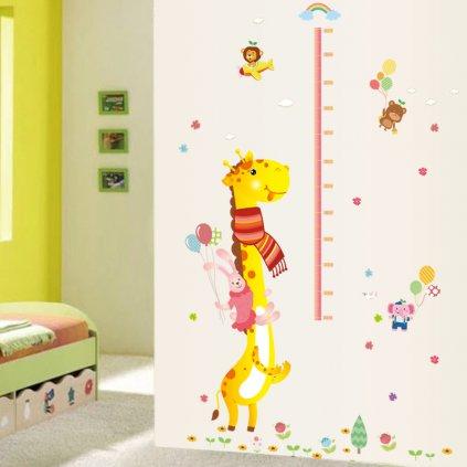 "Samolepka na stenu ""Detský meter - Žirafa 2"" 140x110 cm"