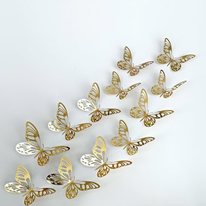 M 025 Metalické Motýle Zlaté 2 kópia