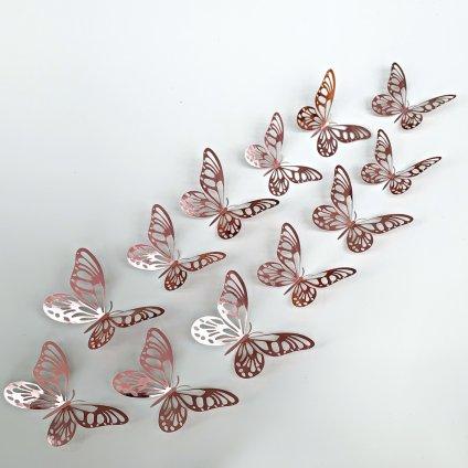 M 027 Metalické Motýle Ružové kópia