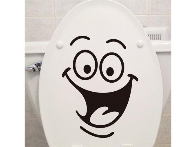 dekoracna samolepka pre deti detska nalepka na wc toaletu zachod smejko nahlad stylovydomov