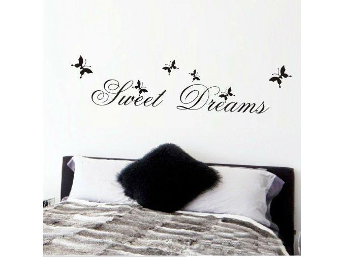 samolepiaca tapeta dekoracna samolepka na stenu nalepka sweet dreams interierovy dizajn dekoracia nahlad stylovydomov