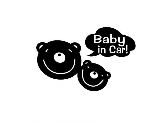 samolepka na auto deta v aute medvediky cierna dekoracna nalepka nahlad stylovydomov
