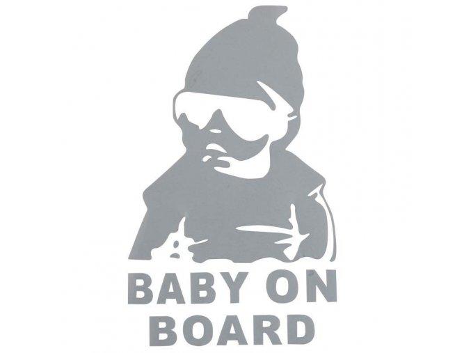 samolepka na auto detska nalepka dieta v aute baby on board hangover nahlad biela stylovydomov