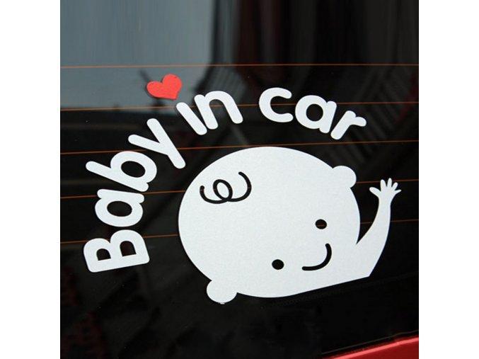 samolepka na auto chlapec v aute dekoracna nalepka strieborna farba nahlad stylovydomov