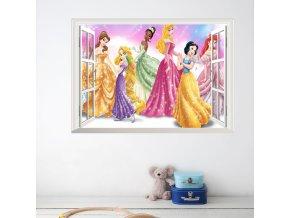 detska samolepka na stenu samolepiaca tapeta dekoracna nalepka pre deti disney princezne nahlad stylovydomov