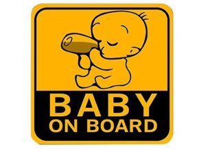 samolepka na auto detska nalepka kocik baby on board dieta na palube dieta v aute farebna nahlad stylovydomov