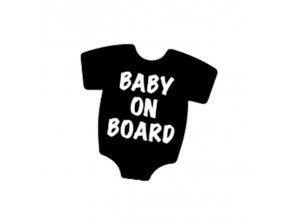 samolepka na auto detska nalepka baby on board dieta v aute cierna nahlad stylovydomov
