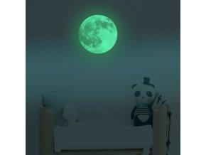 fosforova samolepka na stenu sietiaca nalepka mesiac nahlad stylovydomov