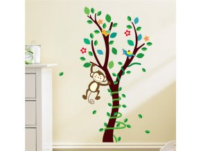 "Samolepka na stenu ""Strom s Opičkou"" 85x45 cm"