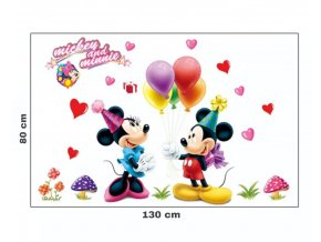 "Samolepka na stenu ""Mickey & Minnie"" 75x50 cm"